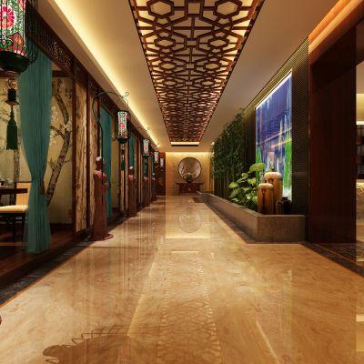 走廊电梯间中式风格