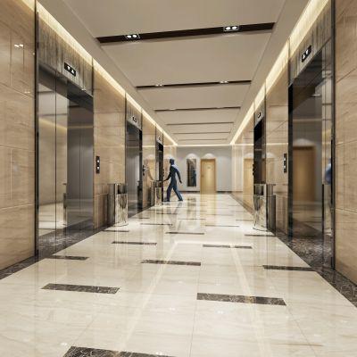 走廊电梯间现代风格3D模型