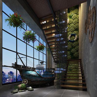 走廊电梯间工业风格