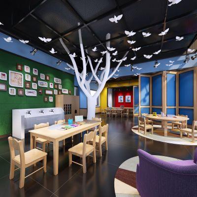 幼儿园、儿童娱乐场工业风格