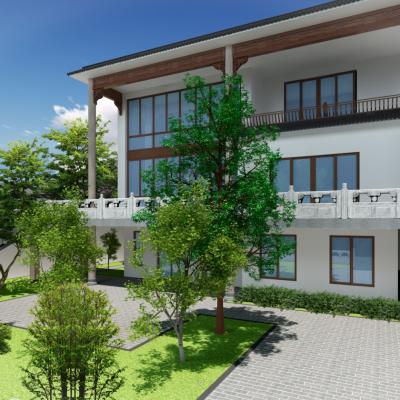 别墅外观3D模型
