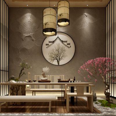 新中式茶室泡茶区泡茶桌