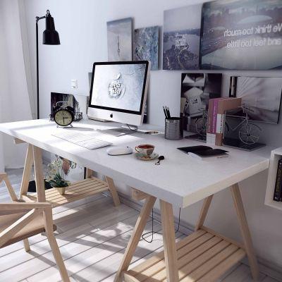 书房 书柜 书桌3D模型