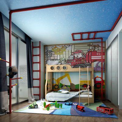 现代风格儿童房