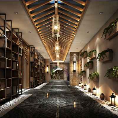 中式风格走廊