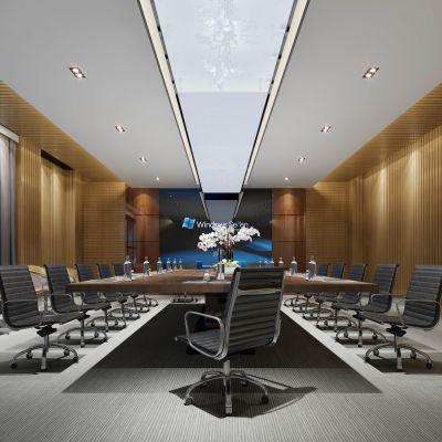 现代风格会议室3D模型