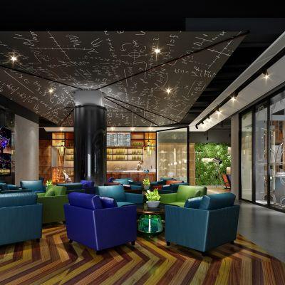 现代风格咖啡厅、面包房