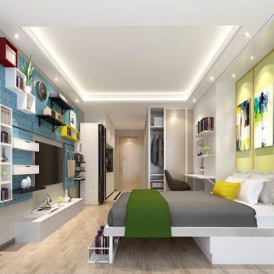 现代风格单身公寓