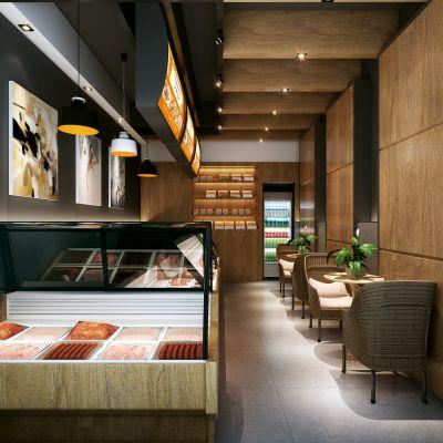 现代风格面包房