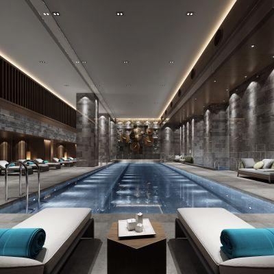 新中式风格泳池