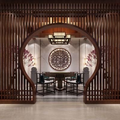新中式风格麻将室