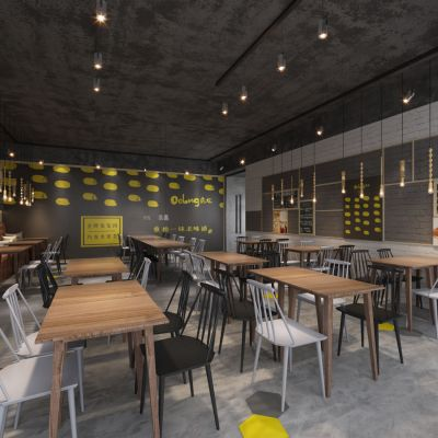 工业风面包房、咖啡馆