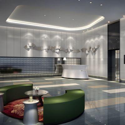 现代风格电梯间走廊