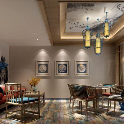 新中式风格娱乐室