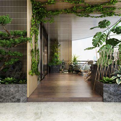 现代风格阳台花园