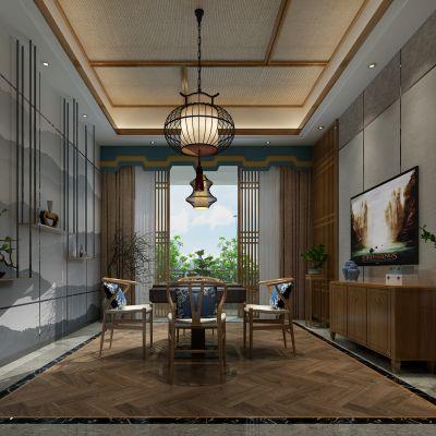中式风格娱乐室