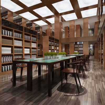 现代风格图书馆
