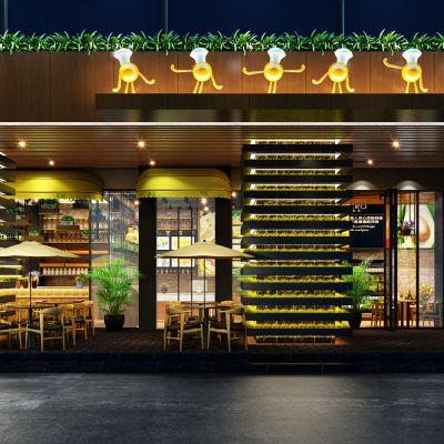 现代风格面包房、咖啡馆