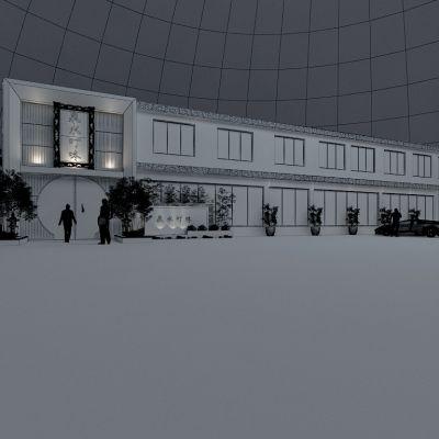 新中式风格建筑外观