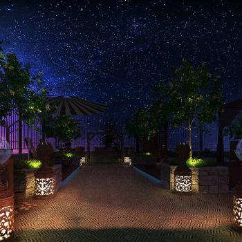 庭院景观夜景