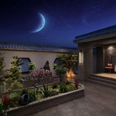 新中式花园3D模型