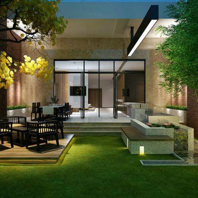 新中式风格庭院