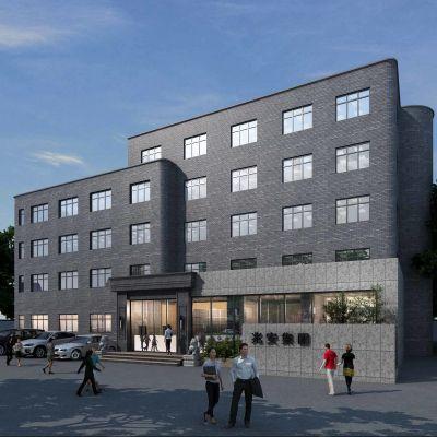 现代风格办公楼外立面模型3D模型
