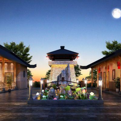 新中式风格景观3D模型