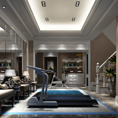 现代风格家庭健身房