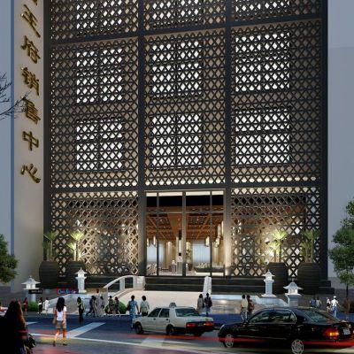 现代风格室外建筑3D模型