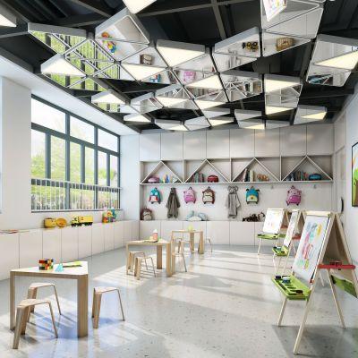 北欧风格  幼儿园教室