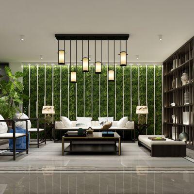 新中式客厅会客厅