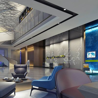 现代酒店大堂3D模型