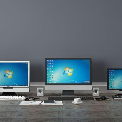 笔记本电脑,显示器