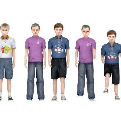 现代儿童模型