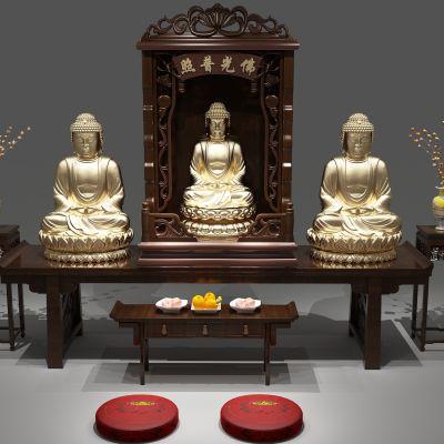 佛龛,佛龛柜3D模型