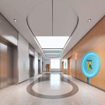 儿童医院电梯厅