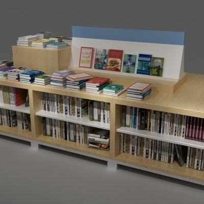 书柜,书架,书籍,书店3D模型