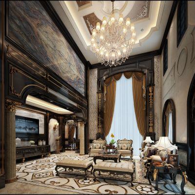 欧式风格别墅大堂3D模型