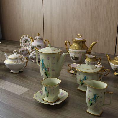 茶具,茶杯,陶瓷,水壶