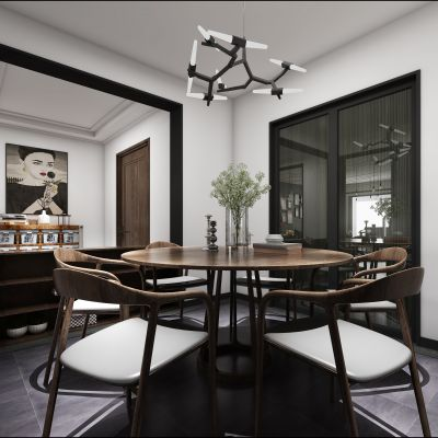 北欧风格客厅3D模型