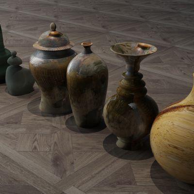 陶瓷器皿,瓷器,古董,工艺品,陶罐