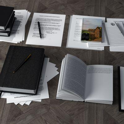 笔记本,笔,纸,书