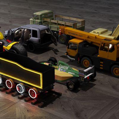 玩具,汽车,火车,挖掘机