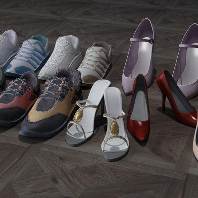 鞋子,高跟鞋,运动鞋