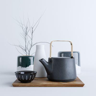 现代北欧茶壶摆件组合