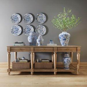 中式端景台陶瓷陈设品组合