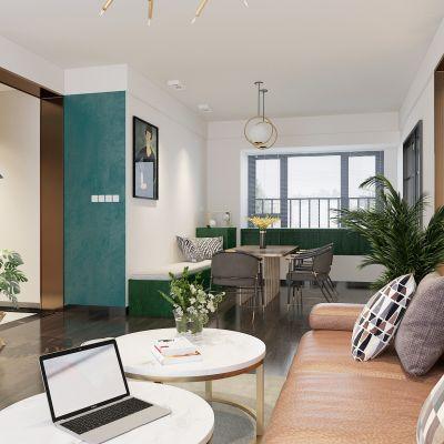 后现代混搭客厅3D模型