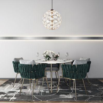 后现代轻奢北欧餐桌组合3D模型