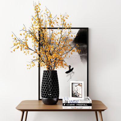 现代花瓶装饰画组合3D模型